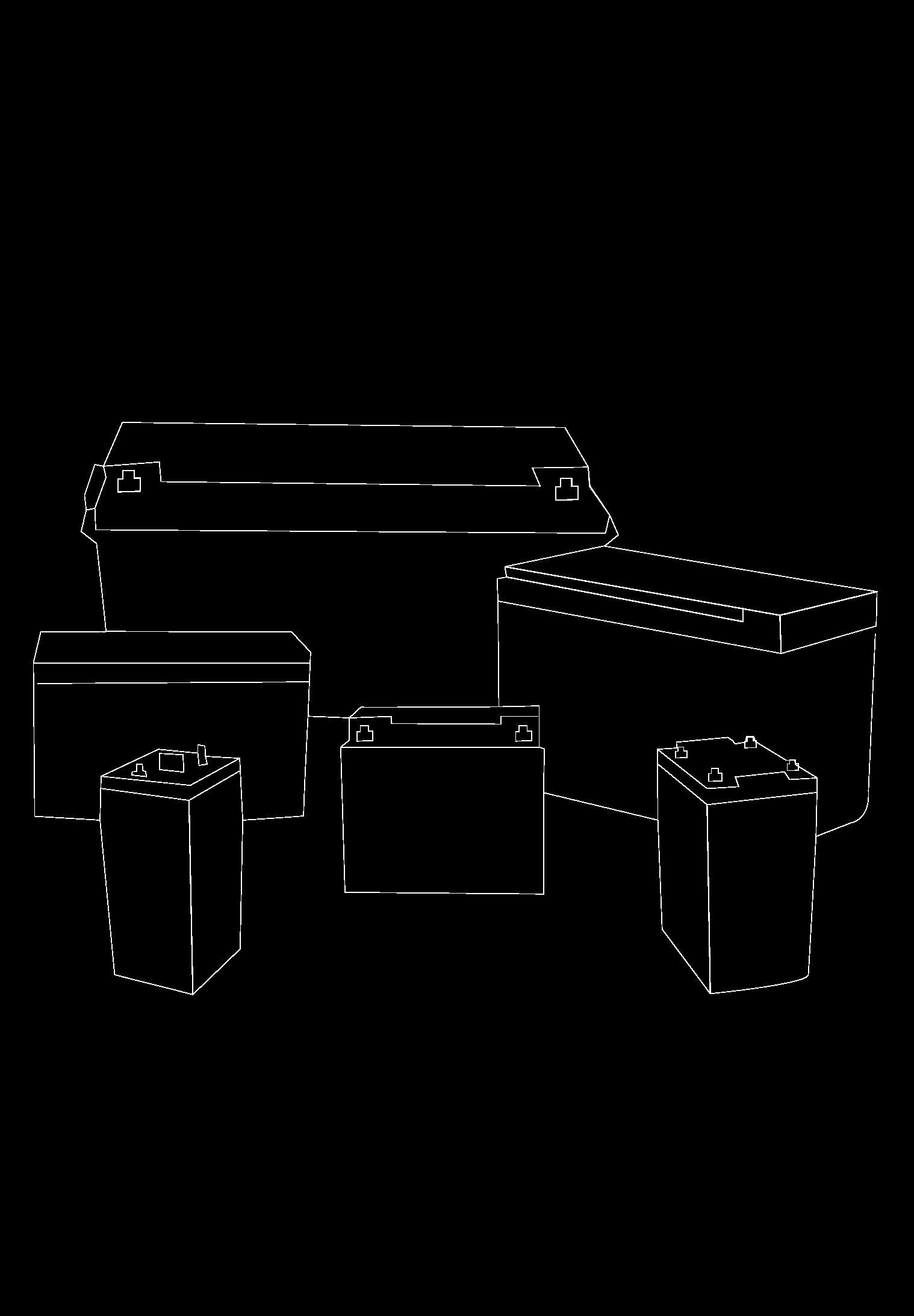 12V (4.5 -250 Ah) – 2V (100-3000 Ah)